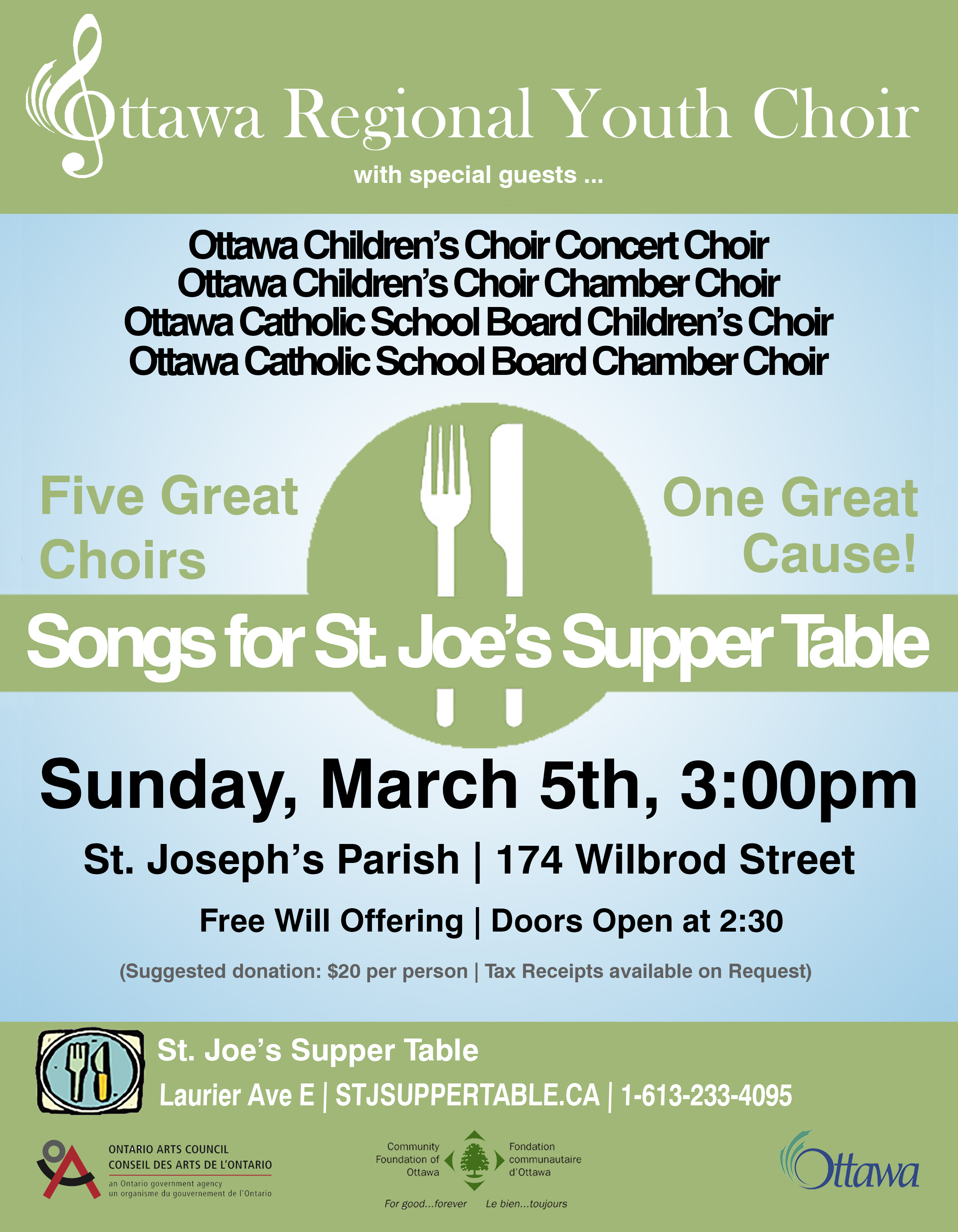 Songs For St. Joe\'s Supper Table – Ottawa Regional Youth Choir